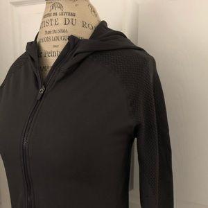 Fabletics brand womens gray color full zip jacket